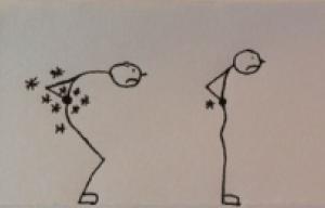 Leichte bis mittelschwere Rückenbeschwerden
